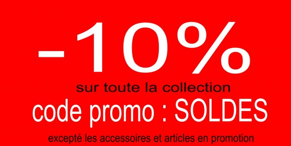 -10 % sur la nouvelle collection